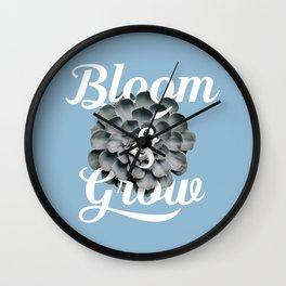Bloom & Grow Wall Clock
