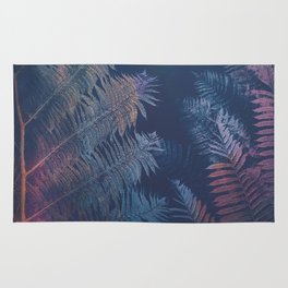 Abstract Fern Rug