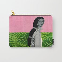girl with a flower Carry-All Pouch