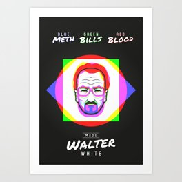 Breaking Bad – Parts of Walter White Art Print