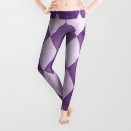 Grape Harlequin Grunge Leggings