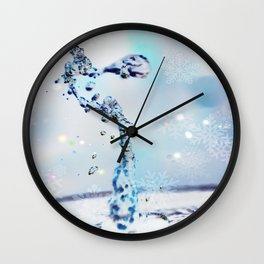 water art winter Wall Clock