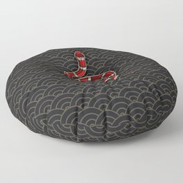 Infinity Snake Red Floor Pillow