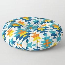Bohemian large aztec diamonds blue pattern Floor Pillow