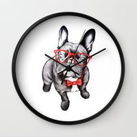 dog Wall Clocks featuring Happy Dog by 13 Styx