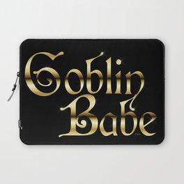 Labyrinth Goblin Babe (black bg) Laptop Sleeve
