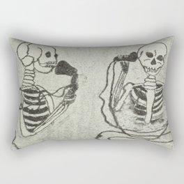 Skeleton's telephone. Rectangular Pillow