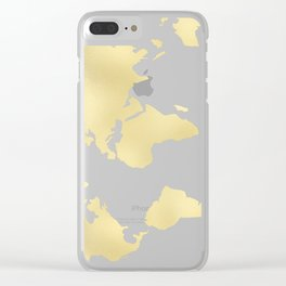 Gold Rush Map of the World Clear iPhone Case