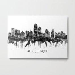 Albuquerque New Mexico Skyline BW Metal Print