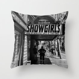 Showgirls Hollywood Blvd Throw Pillow