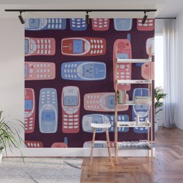 Vintage Cellphone Reactions Wall Mural