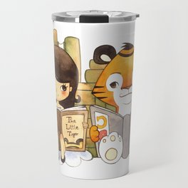 Little Girl and Little Tiger Travel Mug