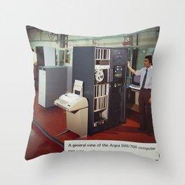 Ferranti Argus 500 Computer System Throw Pillow