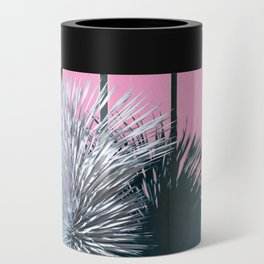 Yucca Plant in Front of Striped Pink Wall Can Cooler