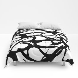 Black and White Abstract Painting II Comforters