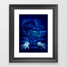 Passion act - pair with Dolphin pair Framed Art Print