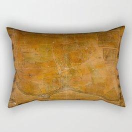 Map Of Flushing 1841 Rectangular Pillow