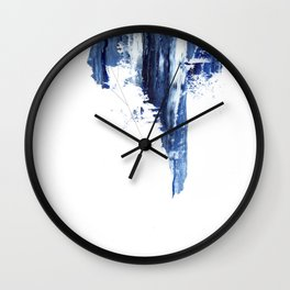 Blue abstract nr1 Wall Clock