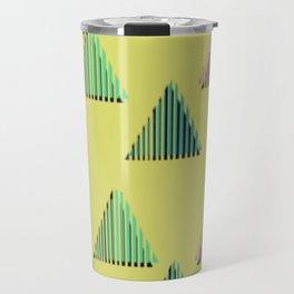 Triangles 80s Print Travel Mug