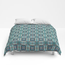 Turquoise Weave Pattern Comforters