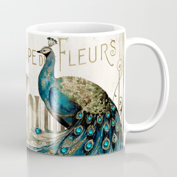 Peacock Jewels Coffee Mug