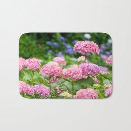 Pink & Lavender Flower Clusters Bath Mat