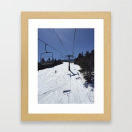 Chairlift Killington Framed Art Print
