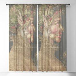 Giuseppe Arcimboldo - Summer Sheer Curtain