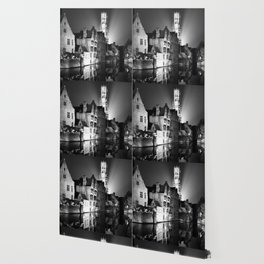 shot on film .. belfry night reflection Wallpaper