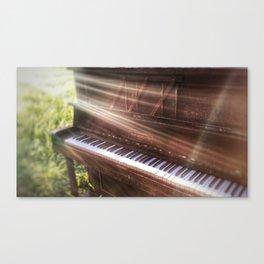 Abandoned Piano Canvas Print