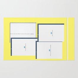 screen yellow Rug
