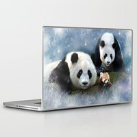 pandas Laptop & iPad Skins featuring Pandas by Julie Hoddinott
