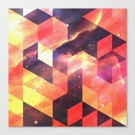 Geometric Fire Canvas Print