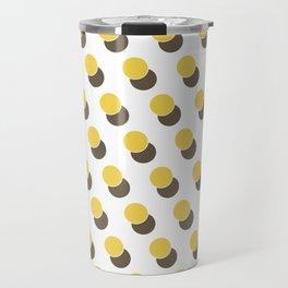 Yellow Dot Spot Geometric Print 2 Travel Mug