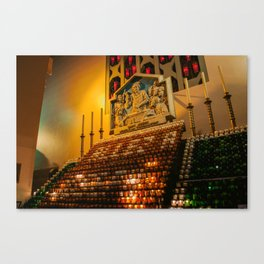 St. Joseph red and green candles.  Canvas Print