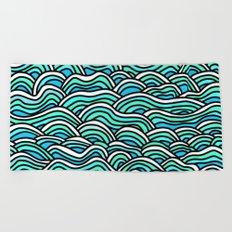 Ocean Waves 1 Beach Towel