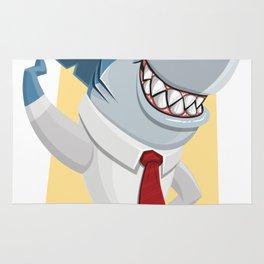 Well Dressed Shark Artwork Rug