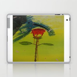 Blurry hummingbird and a melting roze Laptop & iPad Skin
