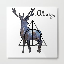 Deathly Hallows - Always Metal Print