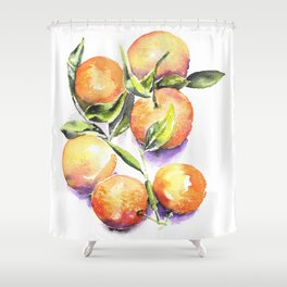 Sweet Clementines Shower Curtain