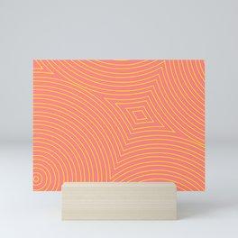 Circles, curves and diamonds Mini Art Print