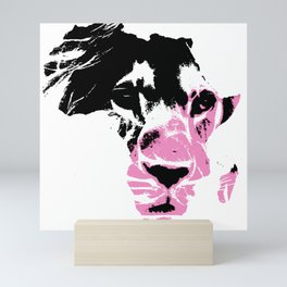 Lion Heart Africa Pink Mini Art Print