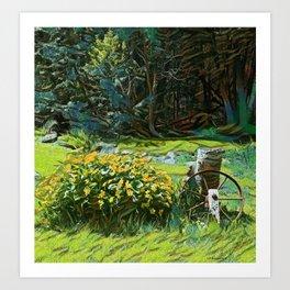Wagon Wheel landscape Art Print