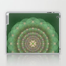 Blessing Mandala green - מנדלה ברכה ירוק Laptop & iPad Skin