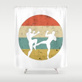 Kickboxing Muay Thai Vintage Gift for Martial Arts Fighters Shower Curtain