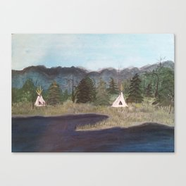 Native Camp Canvas Print