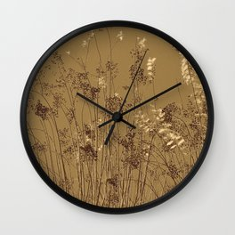 Thin Branches Sepia Wall Clock