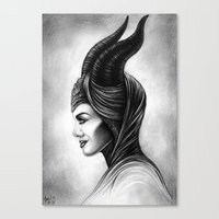 maleficent Canvas Prints featuring Maleficent  by Denda Reloaded