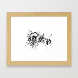 Graphic Flower Ink Art Framed Art Print