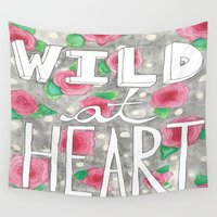 into the wild Wall Tapestries featuring Wild by SweetLemons